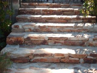 Escalier en pierres sèches