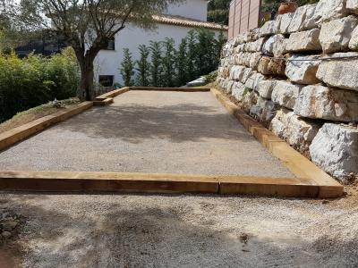 Construction de terrain de pétanque